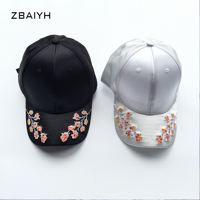 e2eeaac94f225 2016 new solid brand satin flower embroidered golf hats for women snapback  gorras mujer retro baseball
