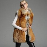 Wholesale Price European Style Women Fashion Red Fox Fur Vest , fashion Real Fur Vests Whole Skin Fur Gilet