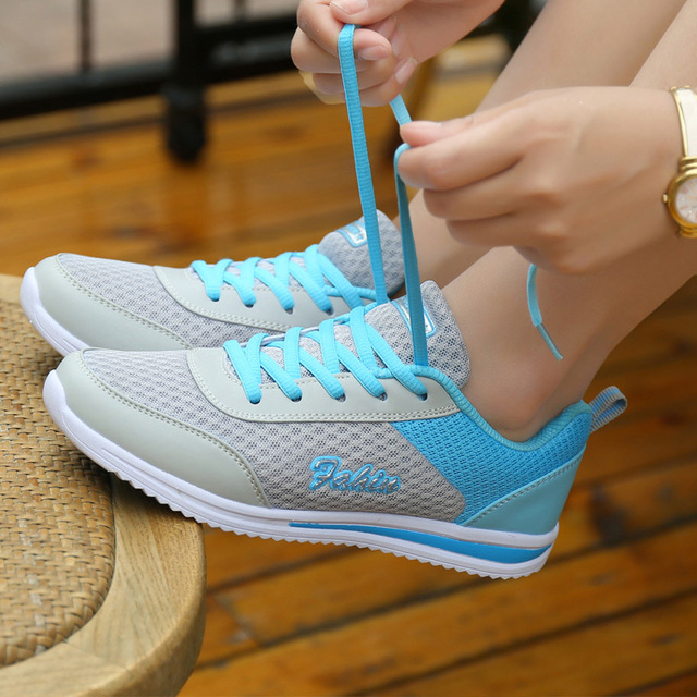 buy popular bb14c f7226 Hot Sale Summer women shoes sneakers Breathable Sport Shoes woman 2018  Ladies Mesh Outdoor Female Running shoes Sneaker