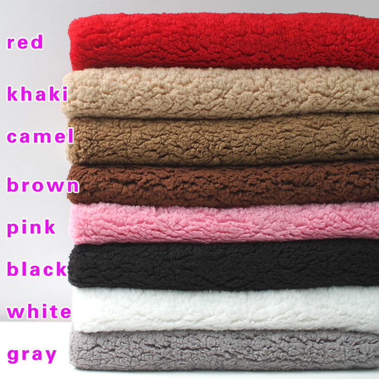 "Ultra-soft Sherpa Fleece Lamb Fur Fabric Berber Fleece Fabric Faux Wool Lining Cloth Dolls 60"" Wide Sold By The Yard"