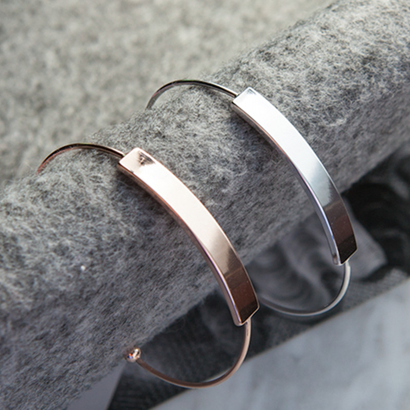 Simple fashion jewelry bracelets smooth opening bangle bracelet with Ms. Han edition