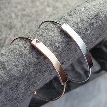 Simple fashion jewelry bracelets bracelets smooth opening bangle bracelet with Ms. Han edition bracelet fashion bracelets недорого
