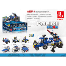 Super police SWAT power building block 6in1 Air defense missile vehicle bricks minifigures for kids