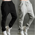 Mens Casual Solid Long Pants Pantalones 2017 New Spring Drawstring Pockets Straight Cotton Joggers Sweatpants Male Trousers