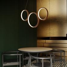 Pendant Lights LED bar Kitchens White Black Aluminum Wave Cord hanging Modern Lamp with adjust length