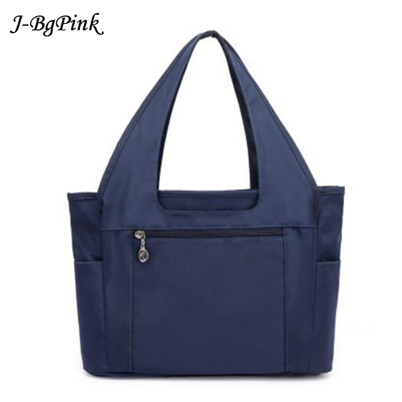 2018 New listing Women bag Big Capacity 36 * 24 * 14cm Mother handbag good quality Purple nylon shoulder bags female pouch