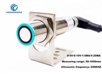 Высокая точность M18 ультразвуковой датчик расстояния аналоговый датчик 0 5 V/0 10/1 5MA/4 20MA детектор движения датчик приближения
