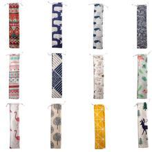Portable Non-Woven Spoon Chopsticks Storage Bag Cotton Linen Drawstring Travel Tableware Tea Wholesale