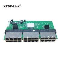 factory direct sale 24 port gigabit switch rack mount metal case 10/100/1000mbps rj45 24 port network switch PCBA Module