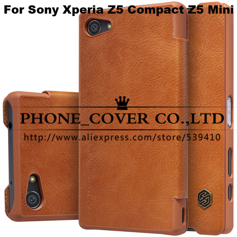 Nillkin Genuine Wallet Leather Case Cover for Sony Xperia Z5 Compact Z5 Mini funda bags cases