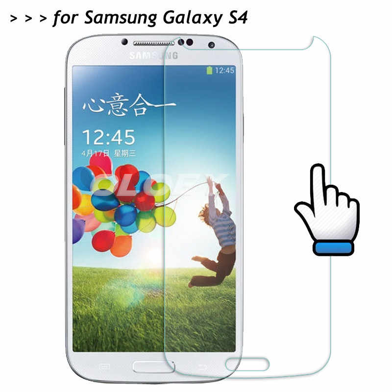 For Samsung Galaxy S4 Tempered Glass 9H Front Screen Protector Safety Protective Film On I9500 S 4 IV I9508 I9505 I9502 E300S