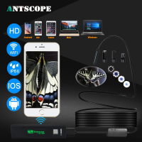 Antscope HD1200P Wifi Endoscope Camera Android Iphone Borescope IP68 Waterproof Camera Endoscopic Semi Rigid Hard Tube