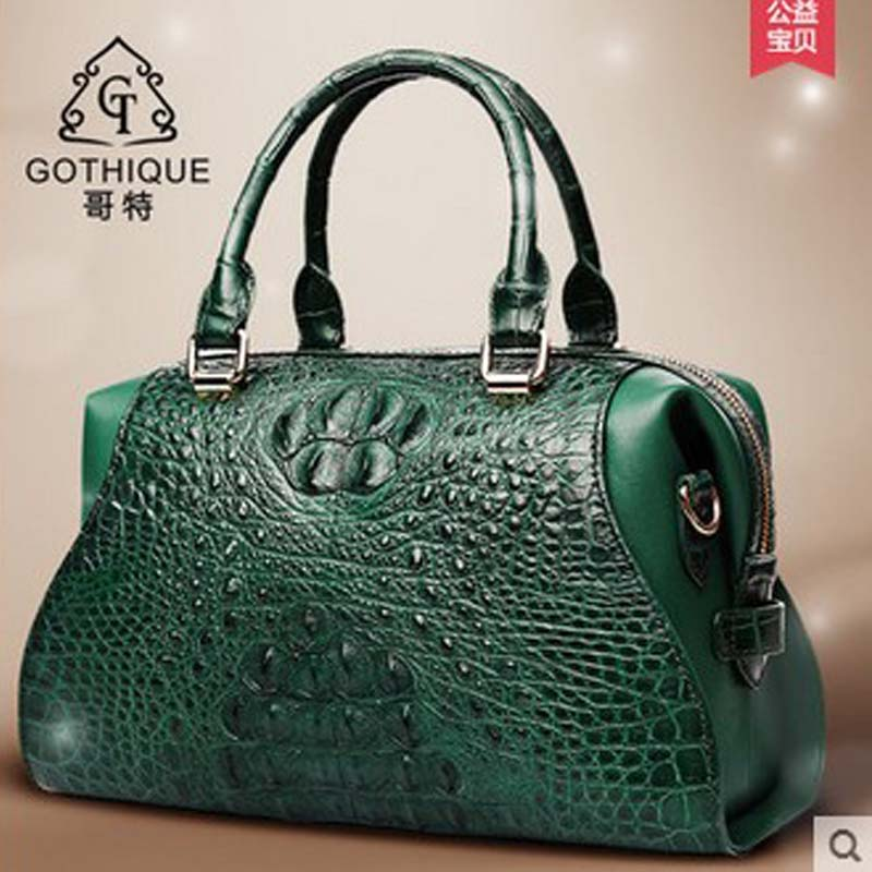 2018 gete  new hot free shipping Thai crocodile handbag leather women handbag inclined single shoulder bag  women bag yuanyu 2018 new hot free shipping crocodile women handbag wrist bag big vintga high end single shoulder bags luxury women bag