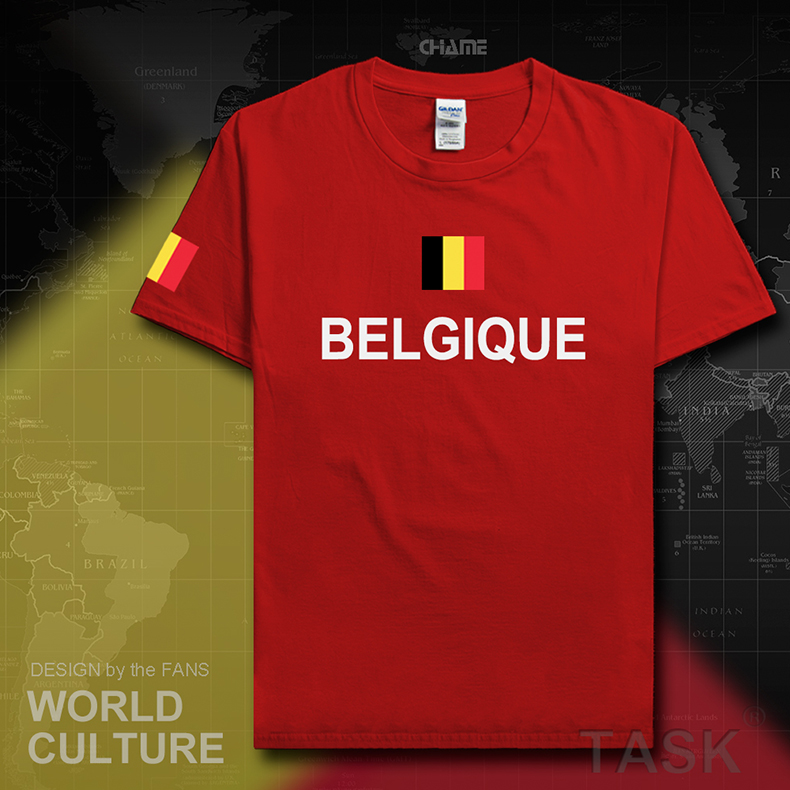 sale retailer a3eed 4771b Belgium Eden Hazard Kevin De Bruyne cotton T shirt short ...