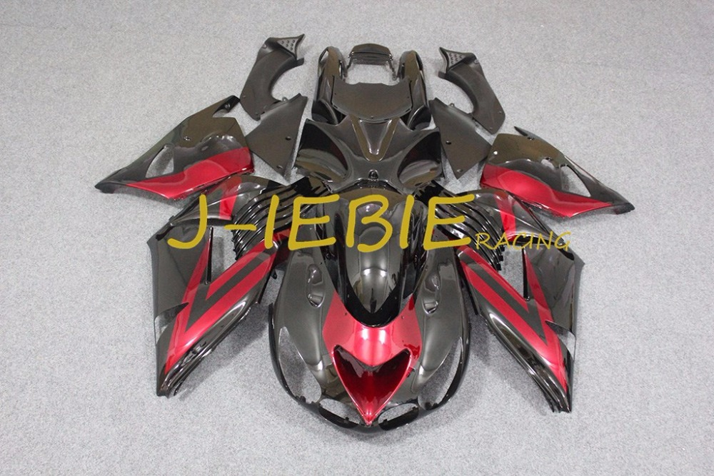 Red black Injection Fairing Body Work Frame Kit for Kawasaki NINJA ZX14R ZX14 ZX 14 R 2006 2007 2008 2009 2010 2011