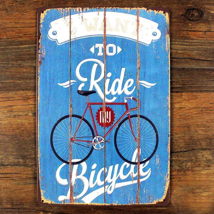 Новое поступление Велосипедный Спорт ездить Винтаж Олово Вход Металл Картина Ретро плакат утюга стикер бар магазин кафе Home Decor 20x30 см