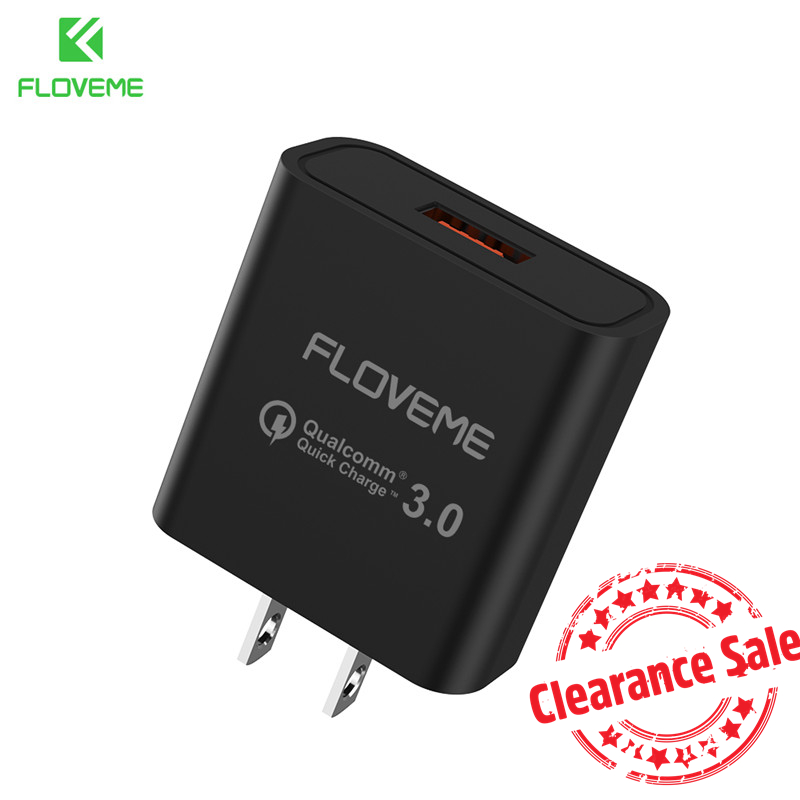 FLOVEME QC3.0 USB Phone Charger For Samsung Quick Charge3.0 Fast Wall Travel Mobile Phone Charger For Phone Adapter US
