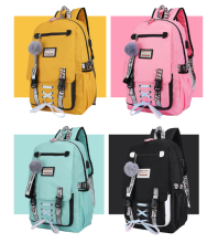 цена на 2019 Large Capacity School Bags for Teenage Girls Usb with Lock Anti Theft Backpack Women Book Bag High School Bag Youth Leisure