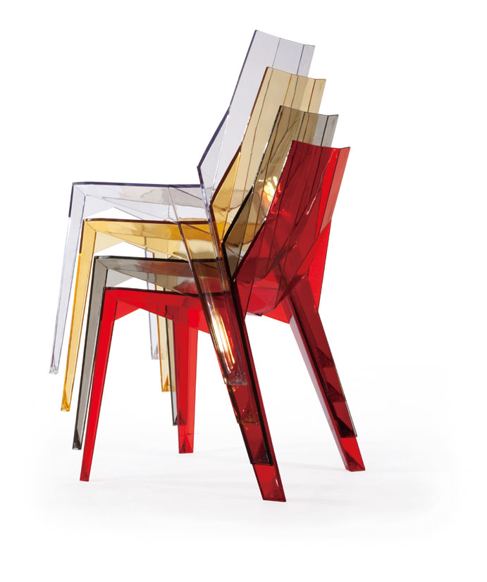 modern design Transparent Dining crystal Chair Clear ...
