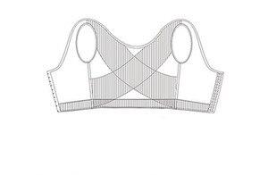 Image 4 - 男女性化乳房シェイパー制御おっぱい見えないベストシェイパーバックコレクター黒、白スリム胸フック調節可能なコルセット