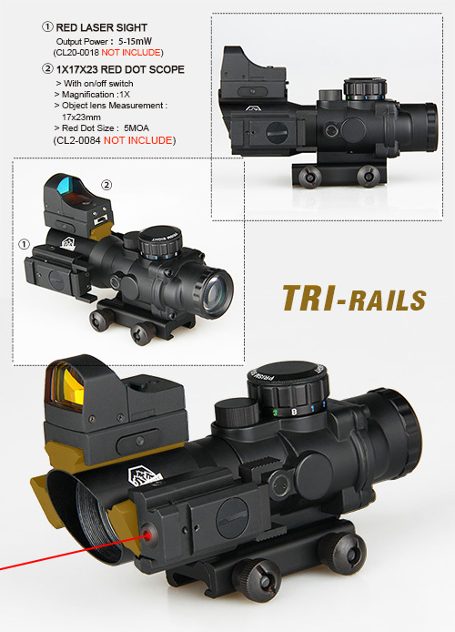 new arrival 4x32 rifle scope with mini red dot and red laser sight For Hunting gun scopes optics CL1-0290 светильник настольный camelion kd 786 c13 голубой led 5 вт 4000к