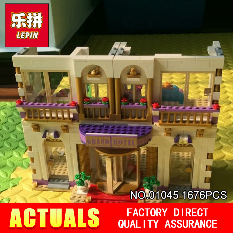New LEPIN 01045 1676pcs GIRL SERIES amusement park games Educational Building Blocks Bricks Toys GriL Toy 41101 lepin 01045 1676pcs girls series heartlake grand hotel set children eucational building blocks bricks toys model gift 41101