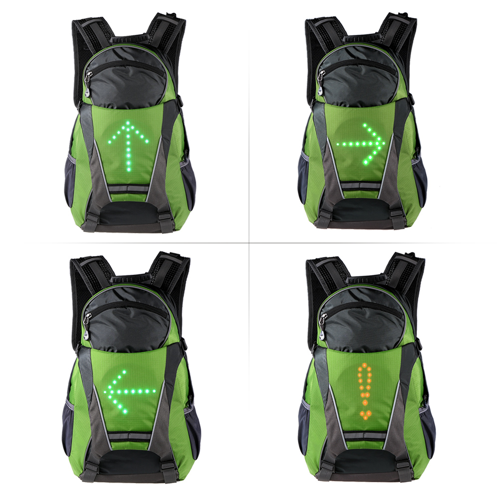 Bicycle Accessories Bicycle Bags & Panniers Lixada Bike Bag Usb Reflective Vest Backpack With Led Turn Signal Light Remote Control Sport Safety Bag Gear For Cycling Suitable For Men And Women Of All Ages In All Seasons
