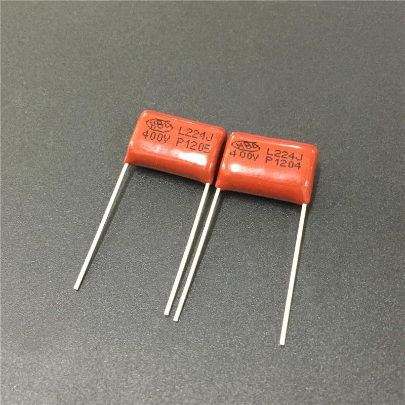 10pcs CBB Capacitor 224 400V 224J 0.22uF 220nF P15 CBB21 Metallized Polypropylene Film Capacitor