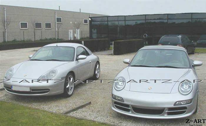 Z Art 997 Looks Front Bumper Front Fender For Porsche 986 996 Tuning Body Kit For Porsche Boxster 1997 2004 911 1998 2004