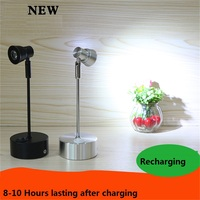 1W/3W 8 43cm pole recharging led spot lamp,jewelry showcase lamp ,desk sitting ,ceiling mount cabinet movable battery light