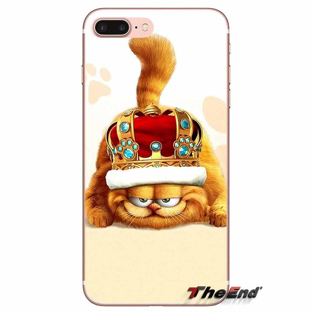 Un BERRY romper Garfield gato suave para iPhone 4X4 4S 5 5S 5C SE 6 6S 7 8 Plus, Samsung Galaxy J1 J3 J5 J7 A3 A5 2016, 2017