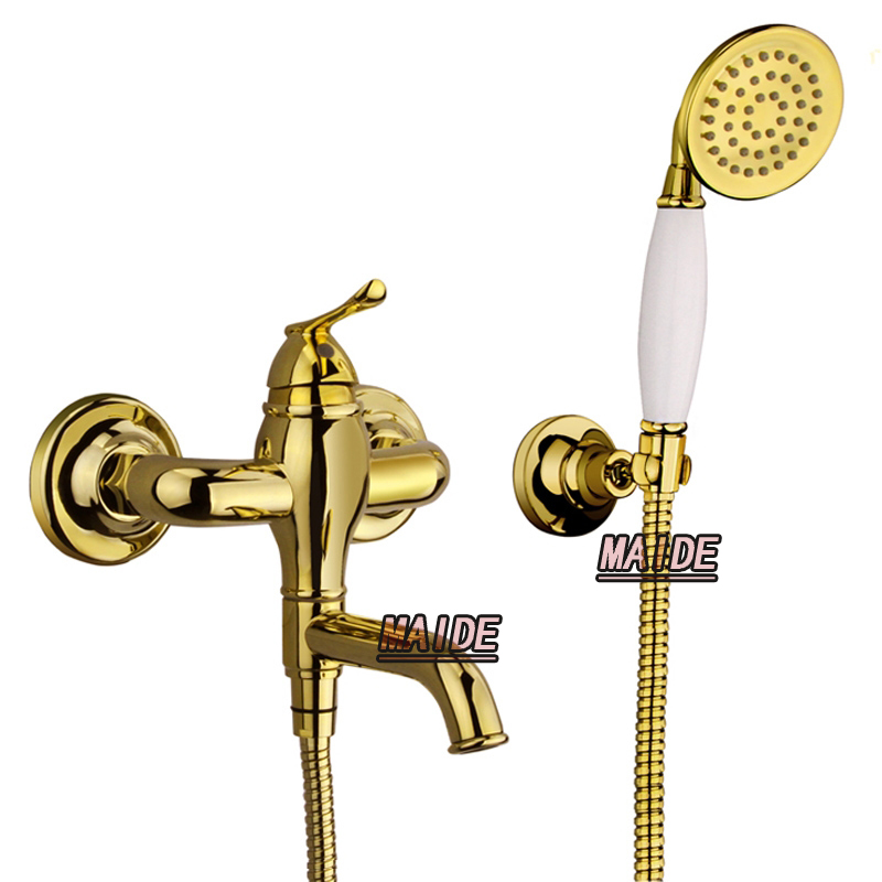 Luxury gold Bathtub Faucet Tap Bathroom Lavatory Shower Faucet/Mixer ...