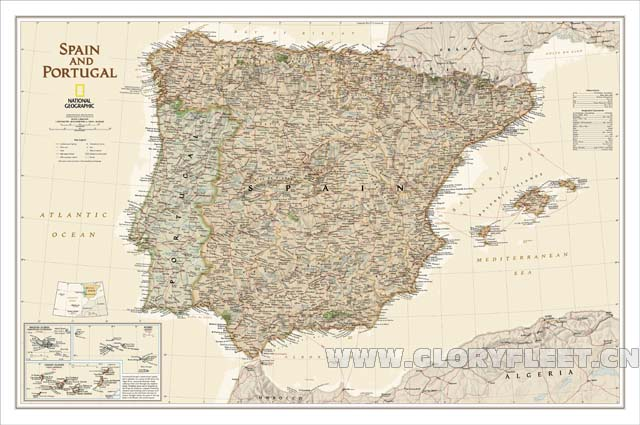 Map Of The South Of Spain.Us 46 15 32 Off Large Vintage South Spain Map Bar Cafe Home Decoration Detailed Antique Poster Wall Chart Retro Cotton Cloth Canvas Painting In