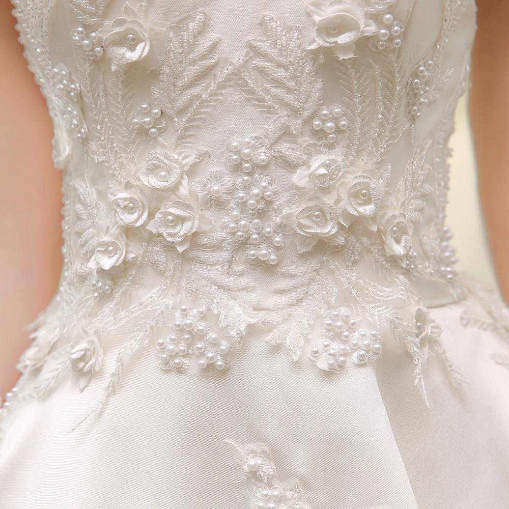 SL 83 Designer Hochzeit Brautkleider Satin Bestickt Perlen Bling ...