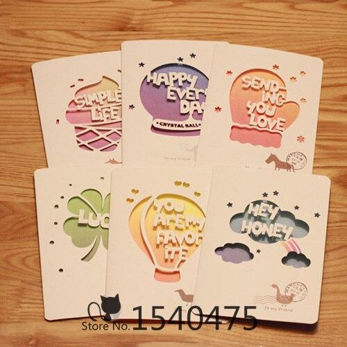 12 Setslot Diy Cute Hot Air Balloon Ice Cream Colorful Paper
