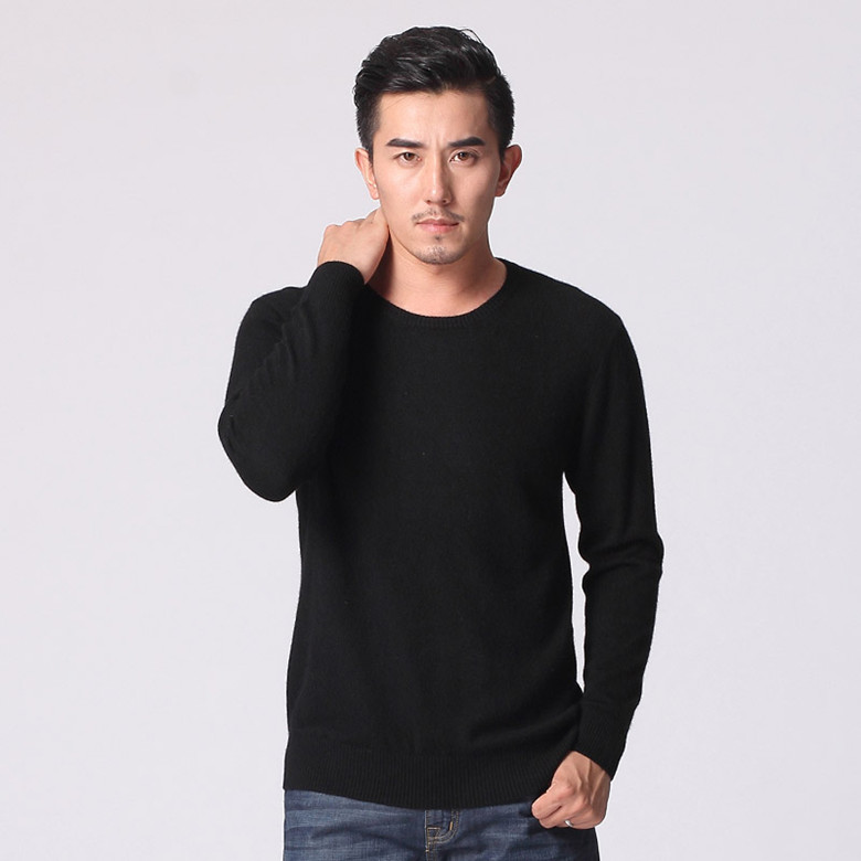 JVEII Autumn Winter Warm Cashmere Sweater Men O-neck Brand Men's Sweater Slim Fitting Sweater Male 2019