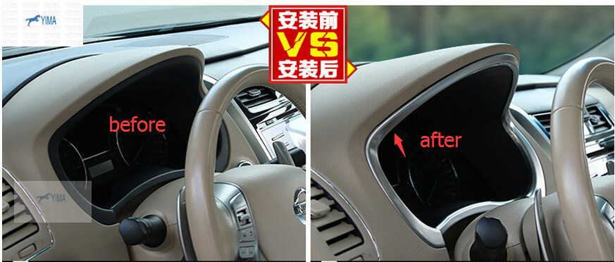 Accessories ! 1 Pcs For Nissan Teana / Altima 2013 2014 ABS Tuning ...