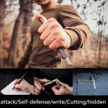 Tungsten Steel Headband Knife Self-defense Tactical Pen Survival Tool Multifunctional Self-defense Emergency Glass Breaker