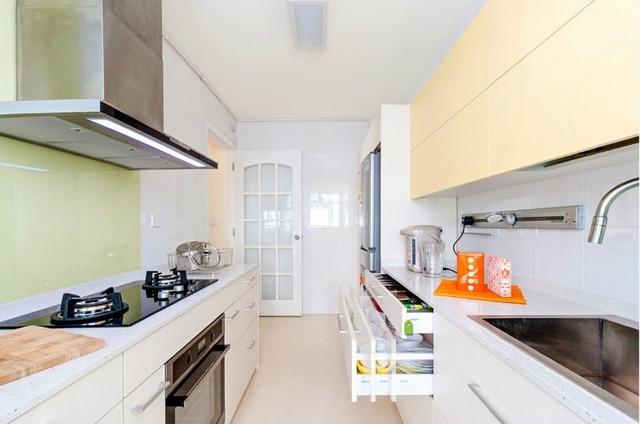 2017 hot sales keukenkasten witte kleur moderne hoogglans lak keuken