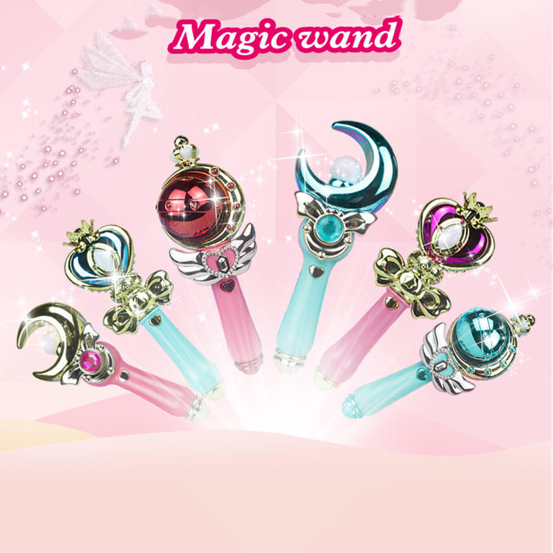 Hard-Working Elsa Anna Cosplay Plastic Sound Lighting Up Toy Princess Accessories Crown Gloves Braid Wig Magic Wand Figure Toys Girl Cosplay