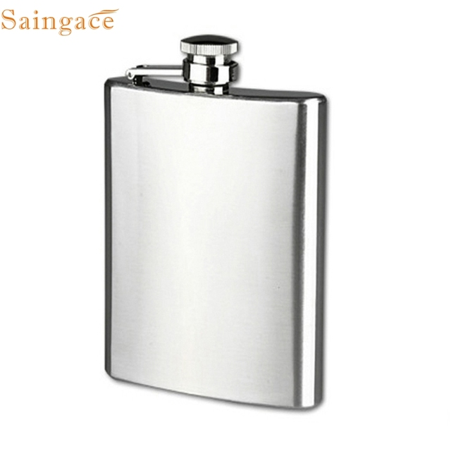 Saingace Stainless Steel Pocket Hip Flask Alcohol Whiskey Liquor Screw Cap Gifts Eight Size 4 /5 /6 /7 /8 / 9/10 /18