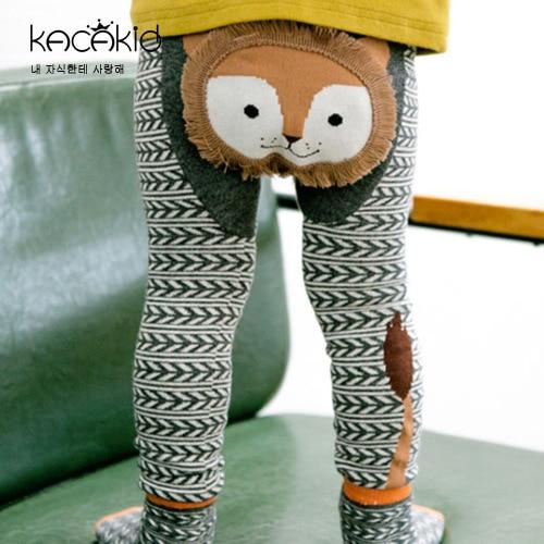 Kid's Cotton Skinny Pants with Cartoon Pattern 3
