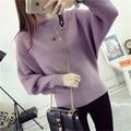 SusanDick 2016 Fashion Batwing Sleeve Pullover Women Kosean Style Cotton Knitted Sweater Knitwear Autumn & Winter Coat Poncho