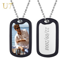 U7 Customized Military Army Dog ID Tag Stainless Steel Personalized Name Photo Necklace for Men & Women Gift Free Engraved P1244 цены онлайн