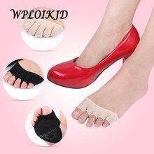 [WPLOIKJD]Antiskid Non Slip High Heel Socks Five Fingers Half A Stealth Socks Women Massage Fitness Profession Calcetines Mujer