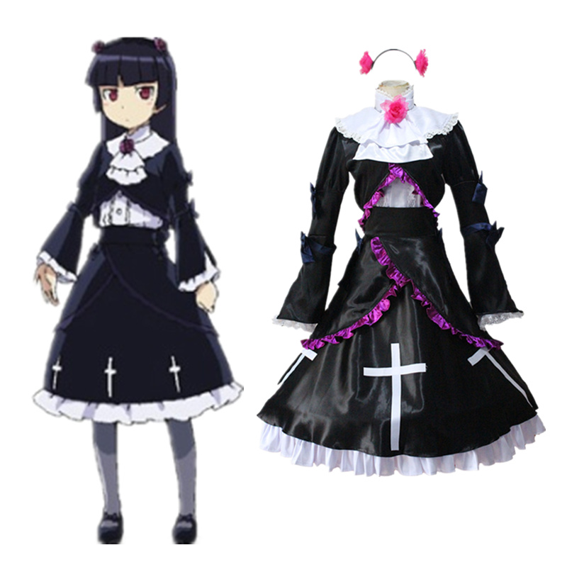 Oreimo Ore no Imouto ga Konnani Kawaii ga Nai Gokou Ruri Cosplay Costumes Long Sleeve Women Kousaka Kirino Lolita Maid Dress New