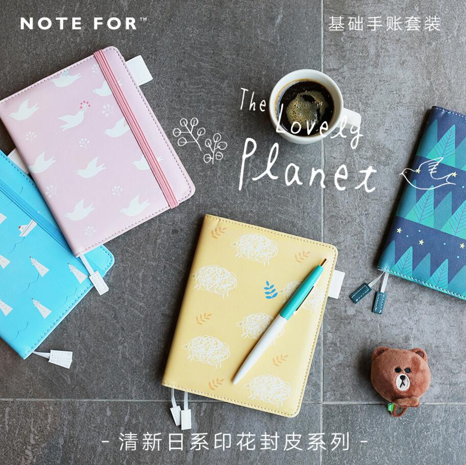 1Pc PU Leather Handmade Craft Paper Traveler's Notebook Schedule Book Diary Weekly Planner Notebook Copybook Cute Stationery pu leather floral flower schedule book diary weekly planner notebook material escolar school office supplies stationery 01605