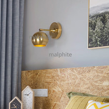 Nordic Retro Copper Wall Lamp Bedroom Bedside Wall Sconce Lighting Light Fixture Corridor Simple Wall Lights Kitchen Fixtures недорого