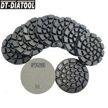 DT-DIATOOL 9pcs/set Diamond Concrete Polishing Pads Sanding Discs Floor Renew For concrete cement terrazzo Dia 4inch/100mm