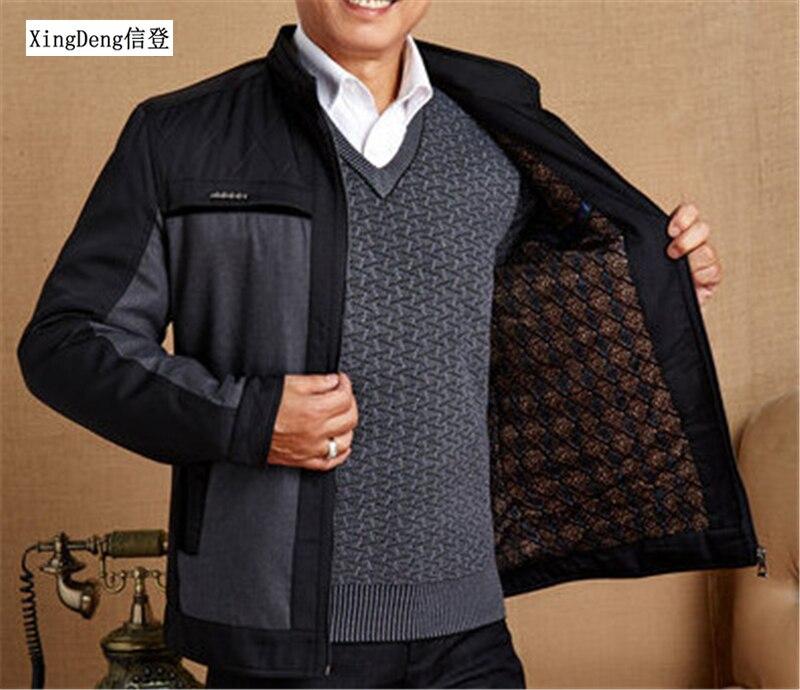 XingDeng Men's Brand-Clothing Jacket Zipper Business Coat Spring Autumn Men Casual Fashion Warm Jackets Male Top Coats Plus Size